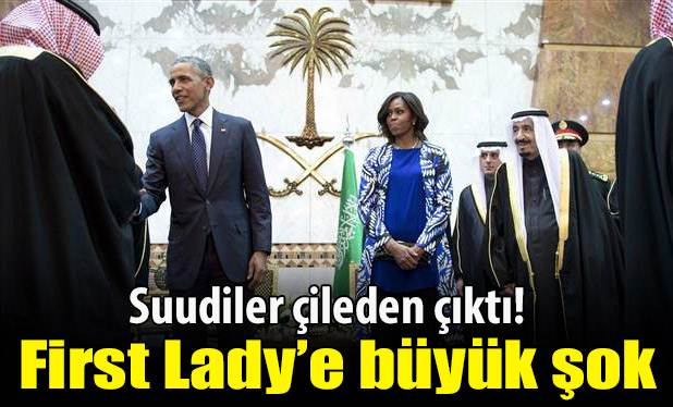 First Lady'i pas geçtiler